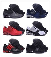 loafers amarelos para homens venda por atacado-NIKE 0SHOX Avenue 802 2018 New Avenue 803 tênis de corrida das mulheres Homens Sneakers Loafers respirável Lace Up Zapatos Casual Dunk 809 Outdoor Sports instrutor Sapatos BB23