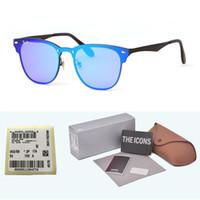 aluminium-gehäuse zum verkauf großhandel-Hohe Quailty neueste heiße Verkaufs-Aluminiummagnesium-Sonnenbrille-Mann-Frauen-Markendesign-Spiegel Eyewear-Sportgläser mit Kleinfall und Aufkleber