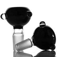 18.8mm schwarze schüsseln großhandel-Fabrik Großhandel schwarze Schüssel 18,8 mm Glasschalen für Wasserpfeife Bongs für Ölbohrinsel verwenden