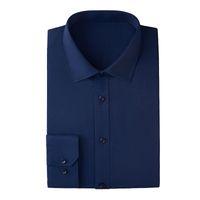 camisa azul claro da luva longa venda por atacado-2019 homens novos vestem camisas do negócio camisa longa da luva dos homens, cores: Branco, Borgonha, luz - azul, azul escuro, preto, rosa, tamanho: S ~ 6XL