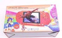 ingrosso stazione di tasca-Hot PXP3 Classic Giochi Slim Station Handheld Game Console 16 bit Portable Video Player Player 5 colori Retro Pocket Game Player Spedizione gratuita