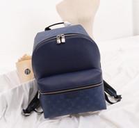 öğrenci çapraz çantaları toptan satış-APOLLO KEŞİF PM Sırt Çantası Yüksek Kalite Yumuşak Tayga Deri Omuz çantası Çapraz Vücut Laptop çantası Öğrenci çantası bookbag Çanta Çanta