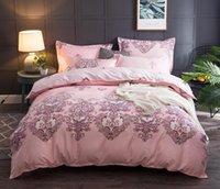 ingrosso bellissimi set di piumoni-Set biancheria da letto in cotone AB Side Copripiumino 4 pezzi Beautiful Soft Bedclothes Dimensioni 200 * 230 cm Home Decoration