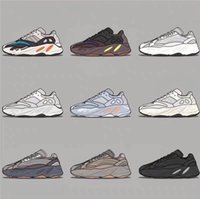 Wholesale runner shoes resale online - New Wave Runner Mauve Inertia Running Shoes Kanye West Designer Shoes Men Women V2 Static Sports Seankers Size