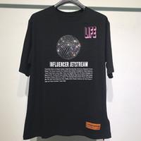 yarasa tişörtü toptan satış-Heron Preston HP Rhinestone kanye batı t-shirt erkek kadın hip hop harajuku erkek arkadaşı hediye streetwear tshirt tops