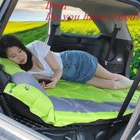 auto betten für reisen großhandel-Auto-Spielraum-Bett-automatische aufblasbare Kissenaußenzelt-Schlafenauflagenmatratze bewegliche Verdickungsmatte im Freienkampierende Matte