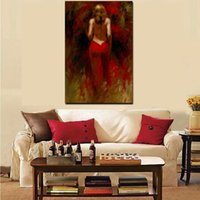 Wholesale portrait nude painting art for sale - Group buy Oil Painting With Abstract Portrait Of Modern Nude Woman On Canvas Sexy Art For Woman Wall Picture For Living Room Cuadros