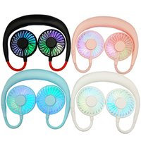 Wholesale small fans for sale - Group buy Mini Neck Fan USB Portable Fan Neckband with Rechargeable Battery Small Desk Fans Handheld Air Cooler Hanging Sport Fan
