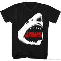 große weiße haie großhandel-Jaws Great White Shark Dead Eyes Herren T-Shirt Zähne Angriff Spielberg Horror