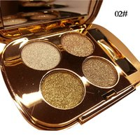 Wholesale naked smoky palette resale online - Gold Eyeshadow Palette Matte Smoky Color Eye Shadow Long Lasting Naked Colorful Beauty Cosmetics Professional Shining Pallete Eyeshadows