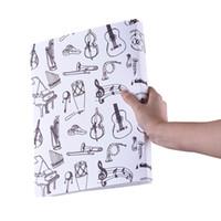 feuille de plastique blanc achat en gros de-Partition musicale Partition de documents en papier Porte-dossiers en plastique A4 Format Blanc