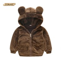 Wholesale cute jackets for spring for sale - Group buy JOMAKE Baby Coats New Autumn Kids Clothes Cute Hooded Jackets For Girls Boys Fleece Cartoon Bear Infant Sweaters Hoodies