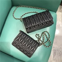 westliche party taschen großhandel-Elegant2019 Damen Leder Echtes Schaffell Kleine Tasche Senior Western Style Fold Diagonal Chain Package