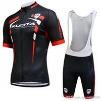 Wholesale kuota cycling jersey 3xl 4xl resale online - 2018 TEAM KUOTA Cycling jersey gel pad bike shorts set Ropa Ciclismo mens summer quick dry Pro Cycling Clothing wear Maillot Culotte