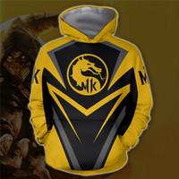 kombat spiele großhandel-Das beliebte Spiel Mortal Kombat 11 3D Print Herren Hoodies Mode Dicke Warme Homme Designer-Kleidung