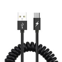 auto datenkabel usb großhandel-Telefon-Kabel USB-Typ-C-Datenleitung Frühling Stretch Micro-USB-Ladekabel für Huawei Xiaomi Samsung Android für Auto