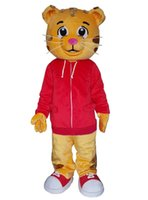 ingrosso abito tigre rosso-Daniel The Tiger Mascot Costume Red Tiger MascotTheme Mascotte Carnival Costume Fancy Party Dress