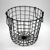 Wholesale fruits basket clothes for sale - Group buy Home Iron Storage Basket Metal Wire Organizer Home Bathroom Clothing Fruits Sundries Container Open Storage Bucket