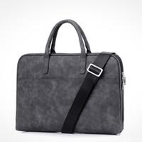portátil carregando venda por atacado-Moda de nova 13 14 15.6 polegada PU à prova de arranhões Laptop Shoulder Bag Notebook Shoulder Carry Case para MacBook Ai
