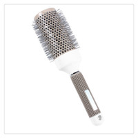 Wholesale nano ceramic hair for sale - Nano Thermal Ceramic Ionic Round Barrel Hair Brush Comb for Hair Drying Styling Curling Adding Hair Volume High Quality
