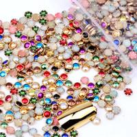 perlas de color arte de uñas al por mayor-1000 unids / lote 4mm 5mm 6mm Muchos Colores Media Perlas Redondas de Metal Rhinestone DIY Nail Art Nail Beads Beauty Glitter Decoración