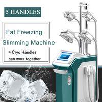 coole lipolyse-maschine großhandel-360-Grad-Abkühlung 5 behandelt Cryo Lipolysis Cryolipolyse-Maschinenfett-Frost, der Cryolipolysis-Ausrüstung abnimmt Mit doppeltem Kinngriff