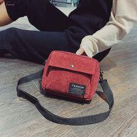 Wholesale cloth purses bags resale online - 2020 Women Mini Shoulder Bag Female Small Canvas Cross Body Bags Ladies Sports Zipper Cloth Purse Shell Mobile Phone Bag Tote P