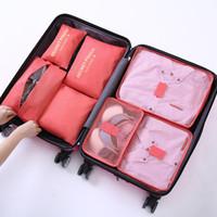 organizador de ropa al por mayor-7 Unids / SetUnisex Ropa Clasificación Embalaje Cubo Impermeable Proyecto Organizador Portátil Maleta Bolsa de Accesorios de Viaje