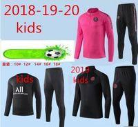 ingrosso nuovi tute da bambini-tuta sportiva Psg France 2 Stars  da bambino 2019 giacca da jogging da calcio psg Tuta da 18 19 20allenamento calcio bambino Paris