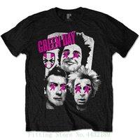ingrosso vestiti di musica rock-Green Day Punk Rock Music Punk Oficial Camiseta Para Hombre T-shirt manica corta per uomo estate