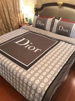 Wholesale bedding d for sale - Group buy Check D Letter Men Bedding Sets Print Simple Pop Brand Summer Quilt Cover New Stylish Design Cotton Modal Bedding Suit