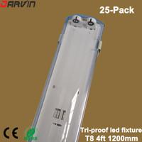 t8 скобки оптовых-Светодиодный светильник T8 4ft 1.2M Tri-proof Светодиодный светильник T8 Светодиодный кронштейн для трубок Водонепроницаемый пылезащитный Взрывозащищенный