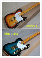 basswood verkauf großhandel-Heißer Verkauf Nagelneu Top Qualität Sunburst Blueburst Custom Shop Linde Korpus Ahorn Griffbrett Standard E-gitarre Tuff Dog