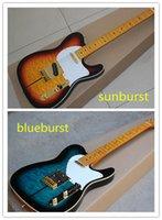 venda de basswood venda por atacado-Venda quente Nova Marca Top Quality Blueburst Sunburst Custom Shop Basswood Corpo Maple Fingerboard Padrão Guitarra Elétrica Tuff Dog