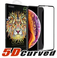 Wholesale 3d glasses new resale online - 5D Curved Full Cover Tempered Glass Screen ProtectorFor NEW Iphone XR XS MAX Full Cover Film D Edge Screen Protector For Iphone Plus