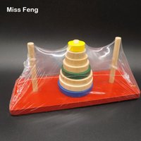 Wholesale tower puzzles for sale - Group buy B015 Wooden Tower Of Hanoi Toys Puzzles Amazing Fun Game