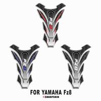 yamaha fz8 al por mayor-Etiqueta engomada decorativa protectora de la almohadilla del tanque de combustible de la motocicleta 3D para la etiqueta engomada del hueso de pescado de YAMAHA FZ8