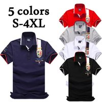 Wholesale polo blue online - Mens Plus Size Polos Fashion Tops Short Sleeve Polo Shirts Casual Solid Color Cotton Shirts