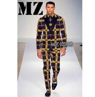 erkek gri takım elbisesi toptan satış-2018 erkek ince şarkıcı Erkek DJ bigbang GD siyah gri harfler Blazer Erkekler suits artı boyutu kostümleri giyim resmi elbise