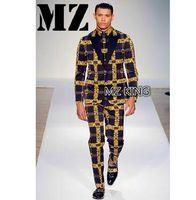 ingrosso vestito grigio maschio-2018 Men's slim cantante Maschio DJ bigbang GD nero grigio lettere Blazer abiti da uomo plus size costumi abbigliamento abito formale