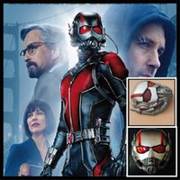 Wholesale batman costumes online - Movie Ant Man Mask Antman Costume PVC Ant Man Helmet Cosplay Halloween Mask Mascaras Masks Batman Iron Man Helmet