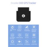 mobil gps cihazları toptan satış-Toptan TK306 OBD GPS Tracker Araba GSM Araç Takip Cihazı OBD2 16Pin Arayüzü Gerçek Zamanlı GPS Bulucu Mobil Alarm GPS İzci
