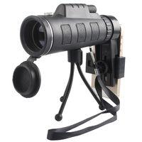 ingrosso treppiedi per lenti-ALTA QUALITA 'dual focus 40X Telescopio del telefono lente 40x60 telescopio monoculare Ottico con zoom clip del telefono treppiede titolare per cellulare