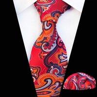 ingrosso legami floreali blu-Cravatta zaffiro blu floreale 100% seta jacquard tessuto cravatta hanky set affari cravatte da sposa per gli uomini drop shipping