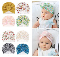 Wholesale indian turban headband for sale - Group buy 8 Styles Cute Infant Toddler Donut Knot Indian Turban cap Kids Headbands Caps Baby floral Hat Solid soft Cotton Hairband Hats