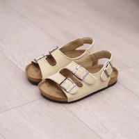Wholesale small girl slip resale online - Sandals For Girl Kids Small Boys Sandals Cork Sandals For Kids Girls Baby Children Double Cork Flip Flops Tide Beach Shoes Y19062001