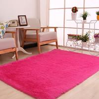 wohnzimmer teppichfarben großhandel-10 farben 120x160 cm große plüsch shaggy verdicken weichen teppich teppich fußmatten für esszimmer wohnzimmer schlafzimmer home office