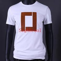 designer camisas negras para homens venda por atacado-19ss Venda Quente Da Marca Dos Homens de Manga Curta Tripulação Pescoço de Luxo T Shirt Casual Mens Designer de Camisas de T Preto e Branco 8108