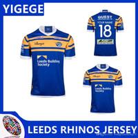 edificio de impresión al por mayor-LEEDS RHINOS 2018 HOME JERSEY 2019 Jerseys Leeds Rhinos home Leeds Building Society Rugby tamaño S-3XL (se puede imprimir)