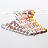Wholesale skirt hangers for sale - Group buy Space Aluminum Hanger Waterproof Rust proof Clothes Rack No Trace Clothing Support Household Anti skid Clothes Hanging DBC DH0477